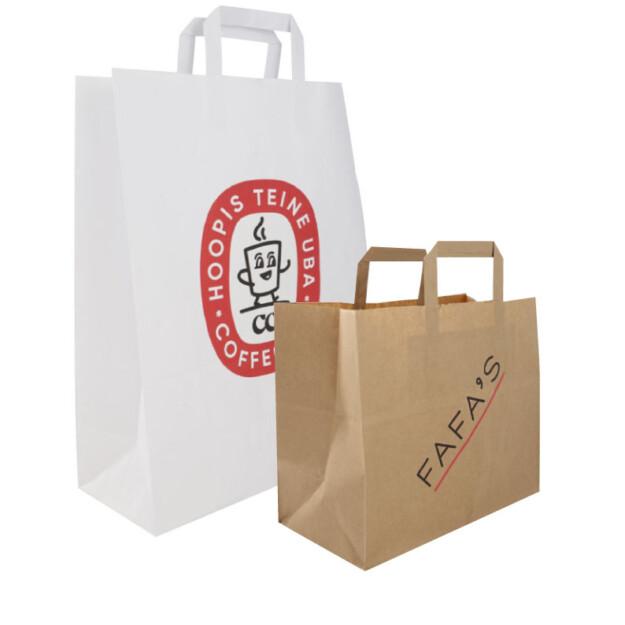 Flat handle paper bags